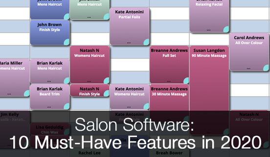 The top 10 salon software features to consider for your salon appointment scheduling software.