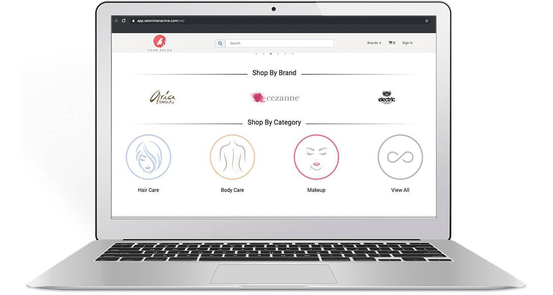 Macbook Air salon software view mode