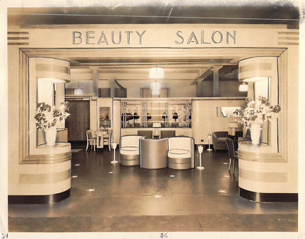 Glemby Beauty Salon Malley's New Haven CT April 21, 1937