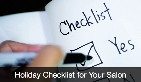 Holiday Checklist for Your Salon